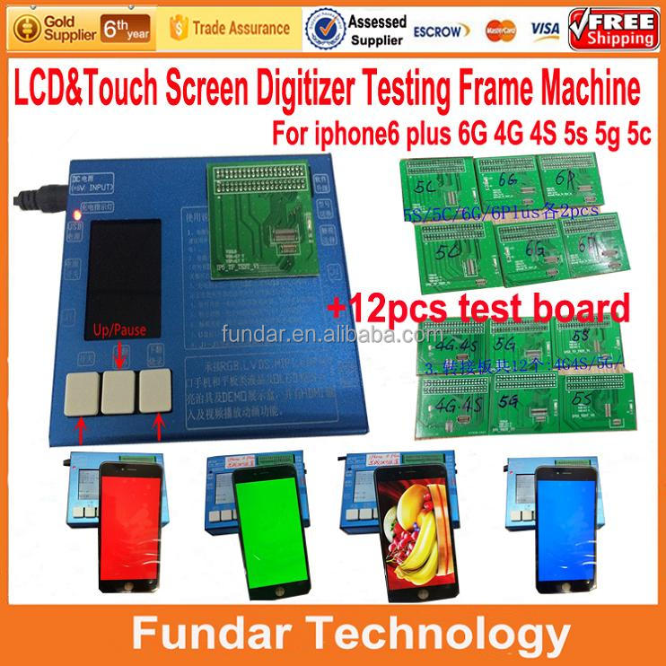 New 7 in1 LCD Touch Screen Digitizer Testing <strong>Tester</strong> for iphone 4 4S 5 5S 5C 6 6 plus full set with manual and video