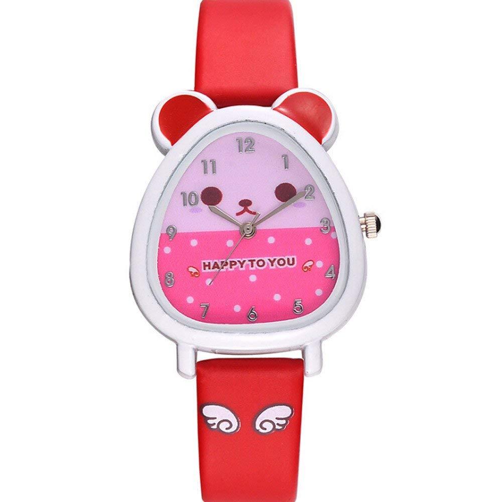 055fb0bf8aa Get Quotations · AKwell Lovely Animal Shape Design Boy Girl Children Quartz Watch  Kid s Birthday Gift