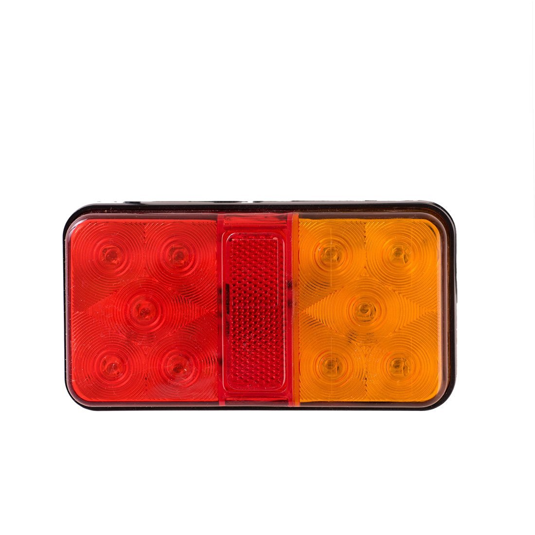 "NAT 2Pcs 5.5"" 2.75"" 1.1"" 5+5 Rear Light Stop Light Tail Light Turn Light Combination Signal Light Lamp with Reflertor (Red & Amber)"