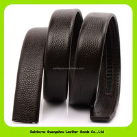 2016 Promotional Gift Items Bulk Order Men's Split Leather Belt For Auto Lock Buckle 16258