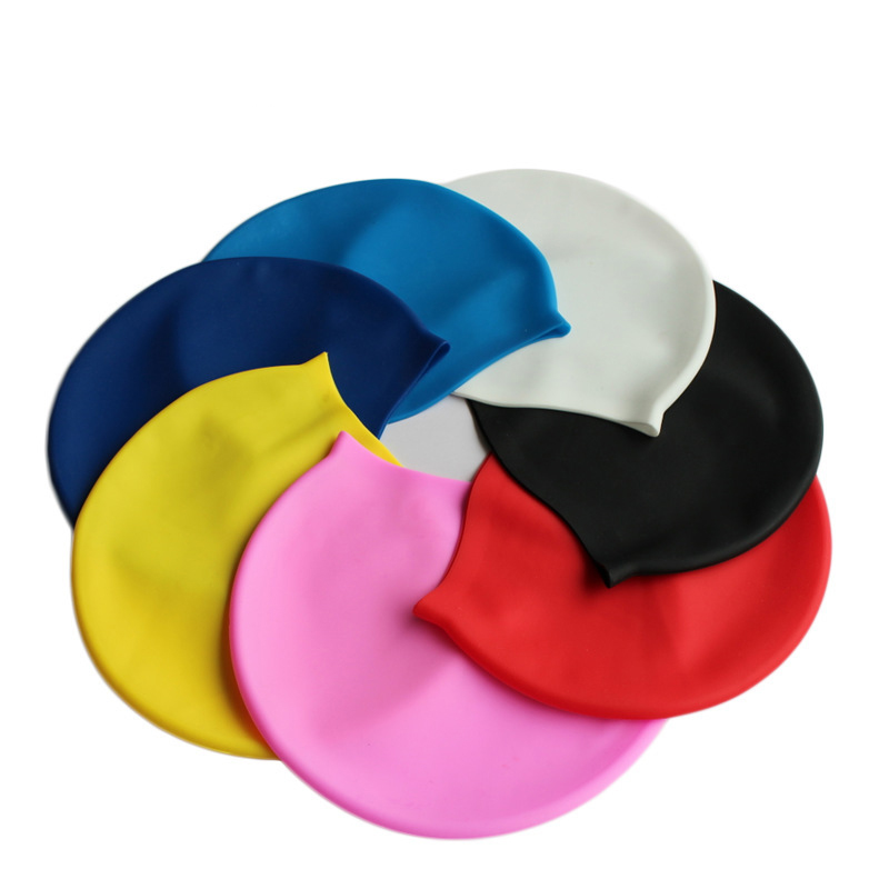 Wholesale Waterproof Silicone Swim Cap Outdoor Water Sports Swimming Cap