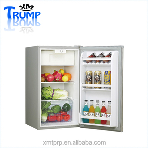 92Litre 12v/24v battery powered DC compressor mini portable upright refrigerator/Home appliance fridge for kitchen use