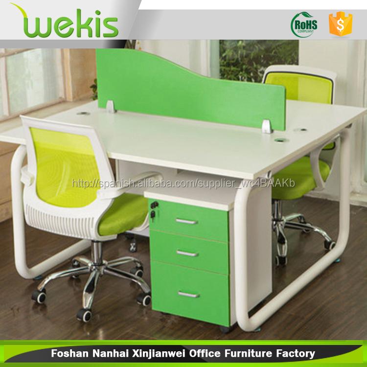 2 asiento de escritorio muebles de oficina con de hierro