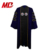 Customized US Deluxe Doctoral Regalia Robe Graduation Cap Gown