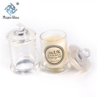 China factory wholesale 5 oz clear soy candle glass jar with lid