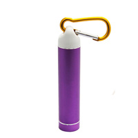 2600mah portable Outdoor usb charger power bank with keychains