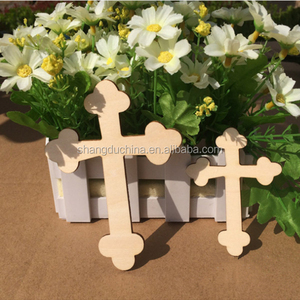 Custom Unfinished Small Carved Wooden Crosses Wholesale