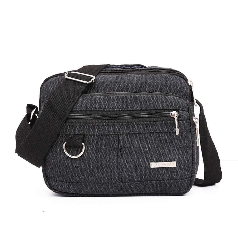 Fashion Travel Men's Crossbody Bag,Outsta Canvas Bag Casual Men Messenger Bags Phone Bag Messenger Tote Bags Basic Travel Multicolor (Black)