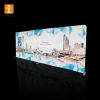 Dye sublimation pop up banner stand full color trade show/media wall display