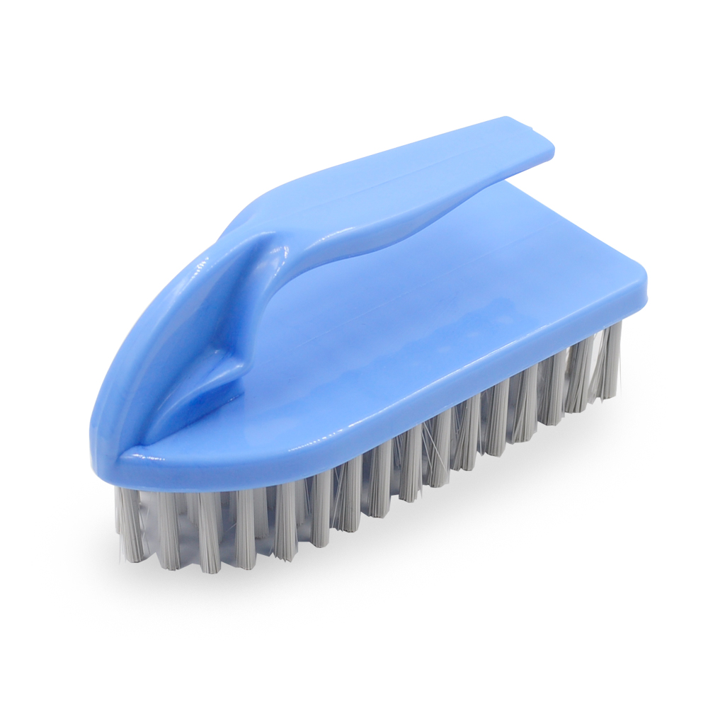 Item No.A109 plastic iron shape hand scrub brush with PP hard bristle