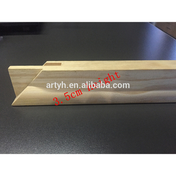 Wooden picture stretcher pine wood material photo frame for bar