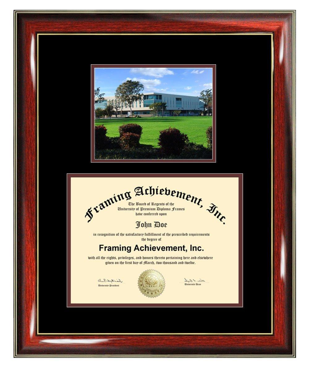 California State University Dominguez Hills Diploma Frame - CSUDH Graduation Degree Frame - Matted College Photo Graduation Certificate Cal State Framing Graduate Gift Collegiate