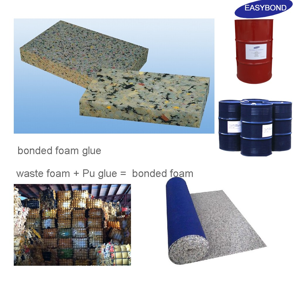 Quickly Effecting Polyurethane glue Chemicals for sponge scrap