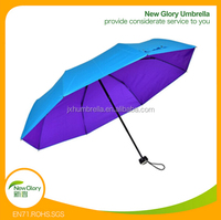 23inches 8k chinese 3 fold ladies full body umbrella for sale