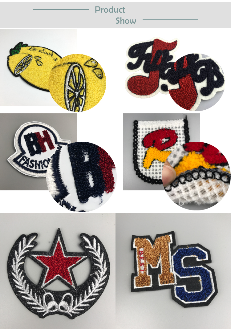Manufacturers Personalized Fashion Design Custom Logo Embroidery Chenille Patches for clothing