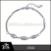 Popular rhinestone jewelry 925 sterling silver bangles blue opal inlay tungsten ring