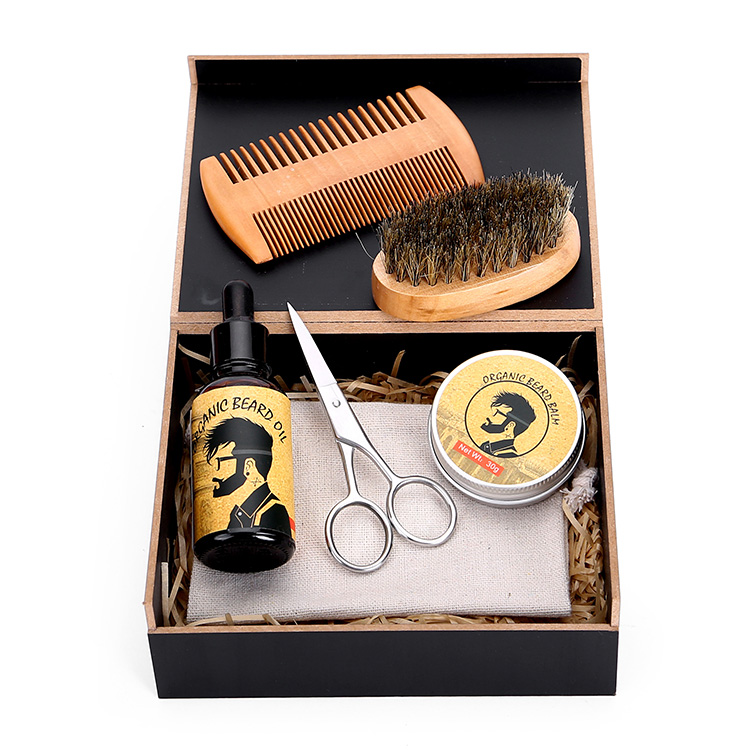 MOQ100 Private Label Beard Care Gift Set Beard Grooming Kit in Stock, Colorful