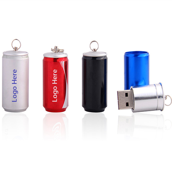 2018 New Pop Can metal Bottle USB Flash Drive 4GB 8GB 16GB cartoon memory card Creative beverage cans pen drive usb 2.0