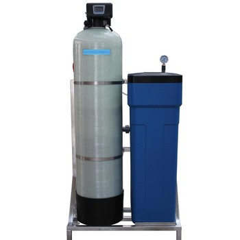 Automatic ion exchange resin water softener