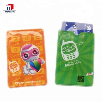 Cheap Customized Soft PVC ATM Card Cover, Flexible PVC Credit Card Sleeve