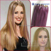 XSX human hair extensions easy loop micro ring for native Americans