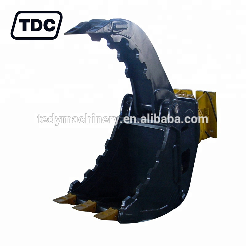 4-9tons small excavator mounted hydraulic rotating grab bucket grab machine
