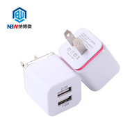 Dual USB Wall Charger 5V2.1A/1A US Plug Cell Mobile Phone Wall Power Adapter for ipad iPhone Samsung HTC Cell Phones