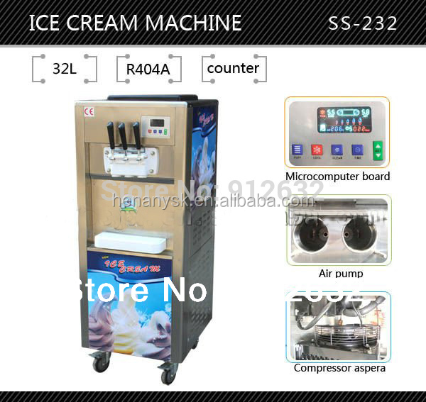 New Style Taylor Soft Ice Cream Machine Hot Selling 32L Commercial Portable Ice Cream Maker Machine