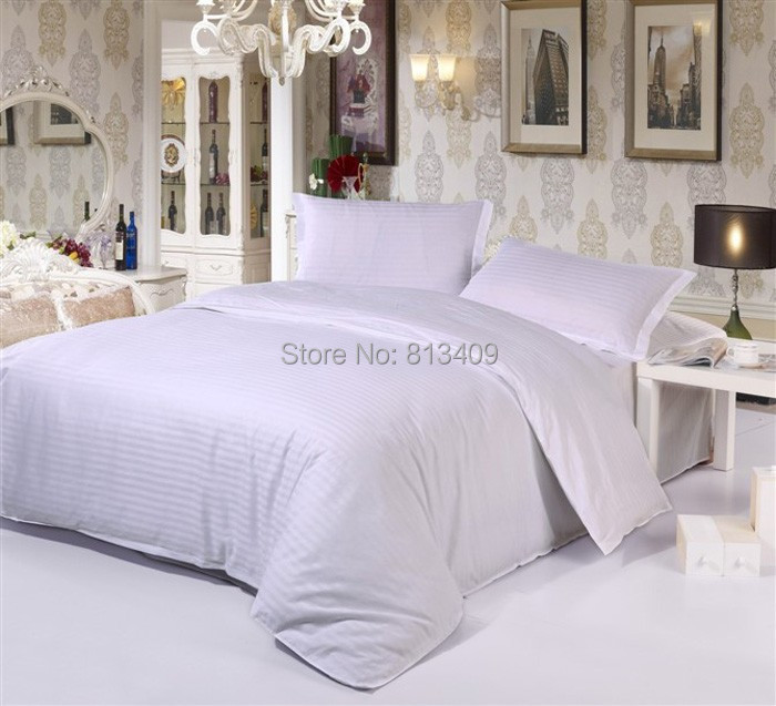 Hotel Collection King Size Quilts: 100-Cotton-White-stripe-Hotel-bedding-set-twin-queen-king