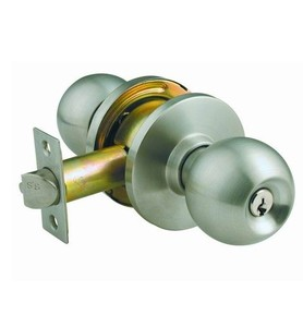 Stainless steel cylindrical knob privacy bathroom glass wood door lock