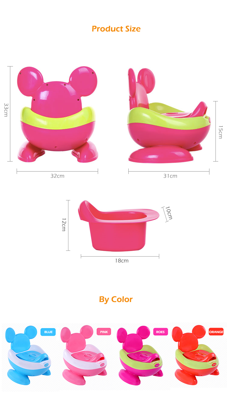 Alibaba Trade Assurance cheap price plastic potty training toilet baby commode