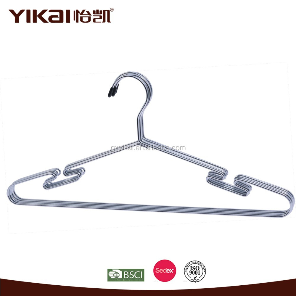 YIKAI 5pcs/set Chrome rose gold shinny metal hangers for clothes