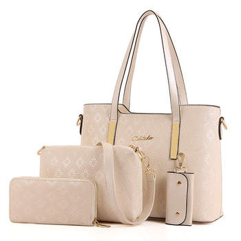 42711673b53 Famous Brands Handbags 2016 Elegant Female Big Bags Crocodile Women s PU  Leather Handbag 3 Pcs