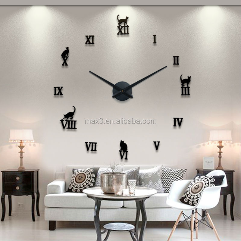 Relojes de pared grandes for Relojes de salon modernos