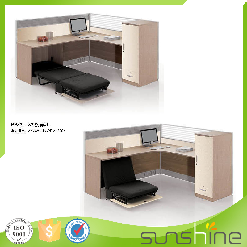 Delicieux Single Office Desk With Partition Practical Design With Wire Management And  Folded Bed China Manufacturers   Buy Office Desk With Partition,Office Desk  With ...