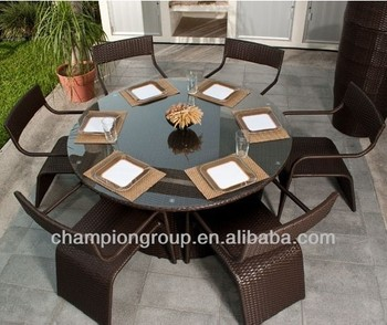 sports shoes dc11f 664d8 Ar-3071 Set 6 Seater Round Dining Table Outdoor Restuarant Furniture - Buy  Garden Outdoor Dining Furniture,8 Seater Dining Furniture,Outdoor Dining ...