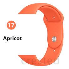 Силиконовый ремешок для apple watch 4 5 44 мм/40 мм спортивный ремешки для apple watch 3 42 мм/38 мм резиновый ремень браслет ремешок для часов apple watch Band Мягки...(Китай)