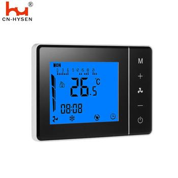 HY01AC 4 Pipe LCD Touch Screen Air Conditioner Thermostat Heating And Cooling