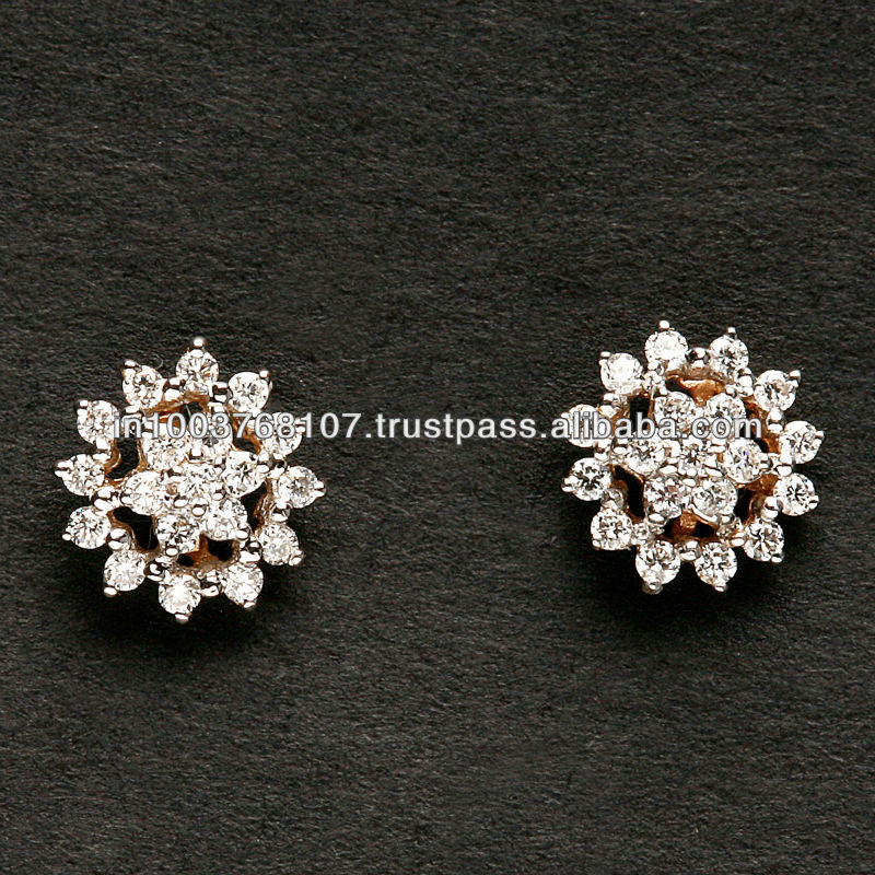 Small Flower Shaped Diamond Earring Drop At Reasonable Price Long Earrings Diamonds Star