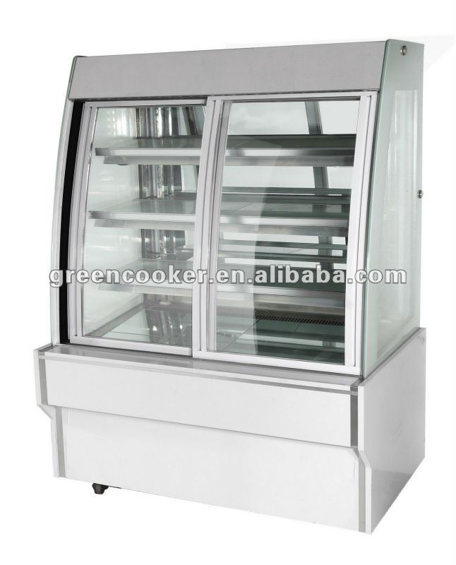 European-style front slide glass door display pastry/cake refrigerator cabinet/showcase