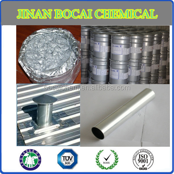 electrosilvering aluminum paste for liquid chrome paint