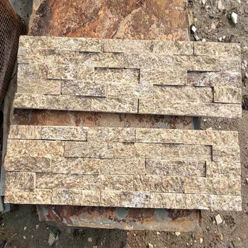 Stacked Yellow Granite Decorative Outdoor Stone Wall Tiles Buy