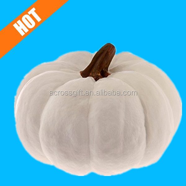 hot sale white decorative ceramic white pumpkins