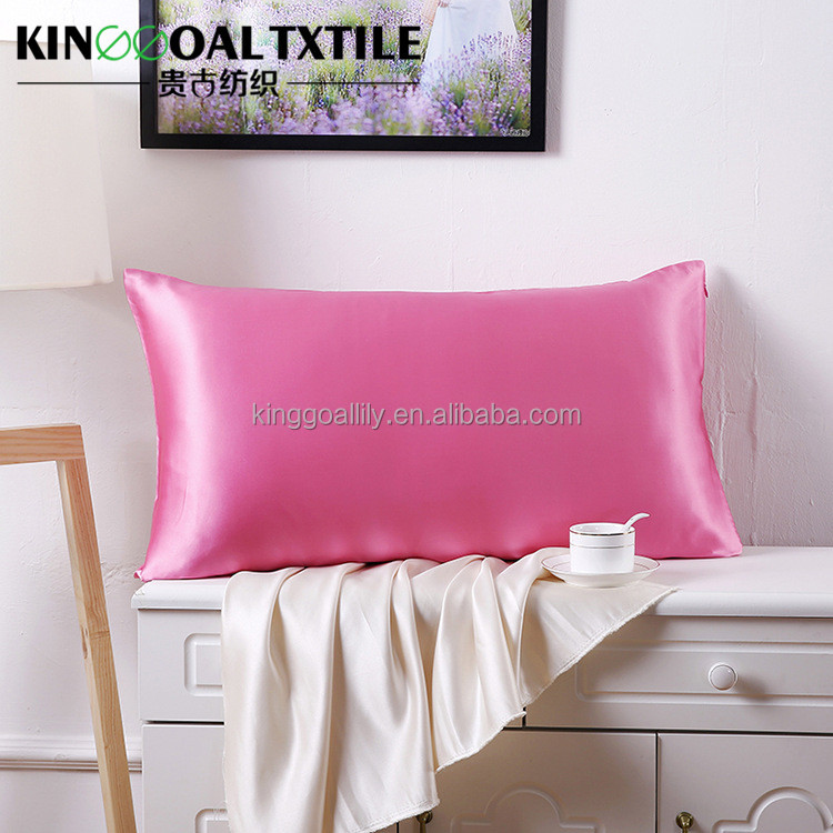 OEM accept adult queen envelop style pink silk pillowcase
