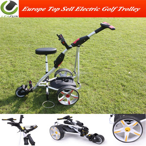 Top Sell Powakaddy Electric Golf Vogen With D Handle Easy Fold and Light  Weight