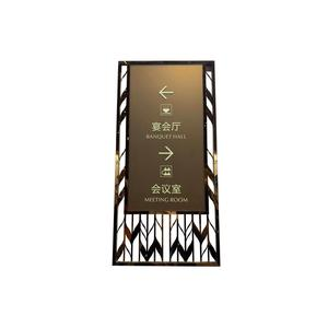 High quality plating mirror stainless steel cutting hanging door signs