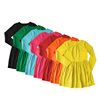 Wholesale breathable smocked children long sleeve girl daily wear dress