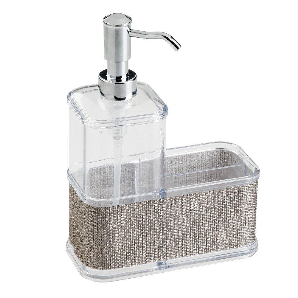 Get Quotations · InterDesign Twillo Soap Dispenser Pump And Sponge U0026  Scrubber Caddy U2013 Kitchen Sink Organizer, Metallico