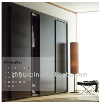 Fancy Wooden Sliding Door Wardrobe Armoire