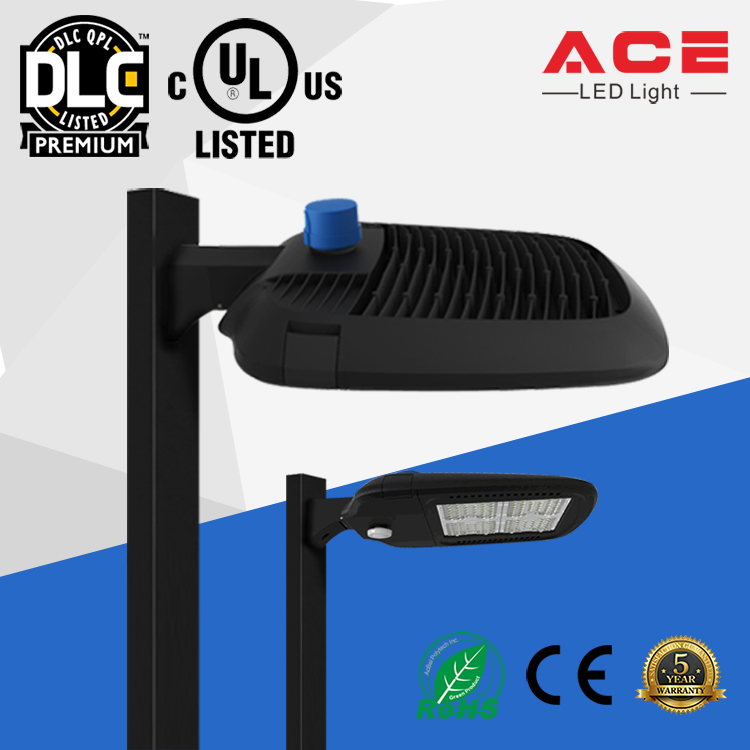 UL DLC Premium Listed 130lm/w 200W LED Area Luminaire with 5 Years Warranty
